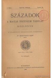 Századok 1910. évi folyam VI. füzet - Dr. Borovszky Samu (szerk.) - Régikönyvek