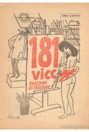 181 vicc rajzban és írásban - Földes György - Régikönyvek