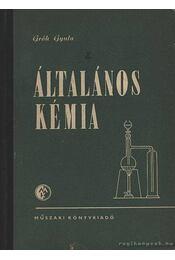 Általános kémia - Gróh Gyula - Régikönyvek