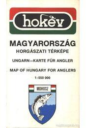 Magyarország horgászati térképe (1:550000) - Régikönyvek