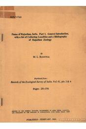 Fauna of Rajasthan, India. Part 1. - Roonwal, M. L. - Régikönyvek