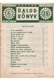 Kottás dalosköny 28. szám - Tardos Béla - Régikönyvek