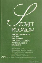 Szovjet irodalom 1989/5 - Király István - Régikönyvek