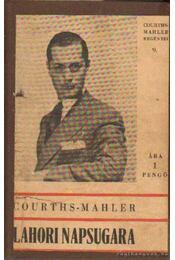 Lahori napsugara - H.Courths-Mahler - Régikönyvek