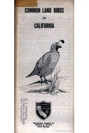 Common Land Birds of California - Régikönyvek