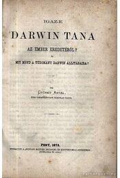Igaz-e Darwin tana az ember eredetéről? - Gyürky Antal - Régikönyvek