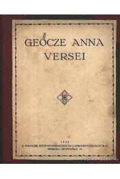 Geőcze Anna versei - Geőcze Anna - Régikönyvek