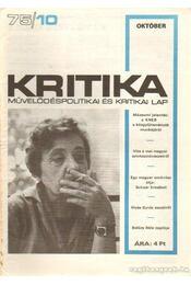 Kritika 75/10 - Pándi Pál - Régikönyvek