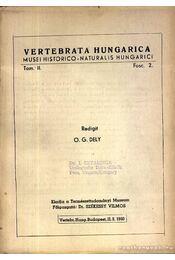 Vertebrata Hungarica II. 2 1960 (Magyarországi gerincesek II. évf. 2.szám 1960) - Dely, O.G. - Régikönyvek
