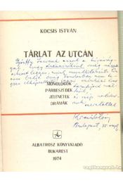 Tárlat az utcán (dedikált) - Kocsis István - Régikönyvek