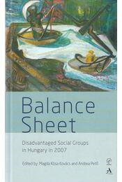 Balance Sheet (Disadvantaged Social Groups in Hungary in 2007) - Kósáné Kovács Magda, Pető Andrea - Régikönyvek