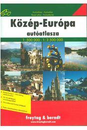 Közép-Európa autóatlasza (1:500 000) (1:3 500 000) - Régikönyvek
