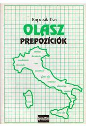 Olasz prepozíciók - Kupcsik Éva - Régikönyvek