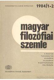 Magyar filozófiai szemle 1984/1-2. - Lendvai L. Ferenc - Régikönyvek