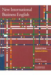 New International Business English - Leo Jones, Richard Alexander - Régikönyvek