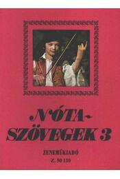 Nótaszövegek 3. - Leszler József - Régikönyvek