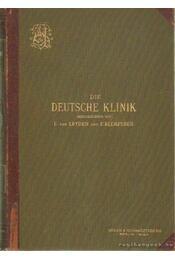 Die Deutsche Klinik I. band - Leyden, Dr. Ernst v., Klemperer, Dr. Felix - Régikönyvek