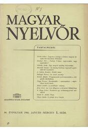 Magyar Nyelvőr 90. évf. 1966/1. - Lőrincze Lajos - Régikönyvek