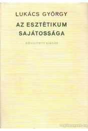 Az esztétikum sajátossága - Lukács György - Régikönyvek