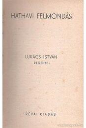 Hathavi felmondás - Lukács István - Régikönyvek