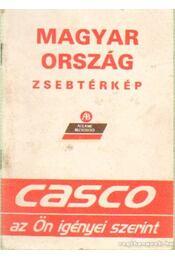 Magyarország zsebtérkép 1:650 000 - Régikönyvek