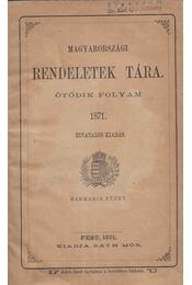 Magyarországi rendeletek tára - Régikönyvek
