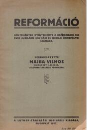 Reformáció - Majba Vilmos - Régikönyvek