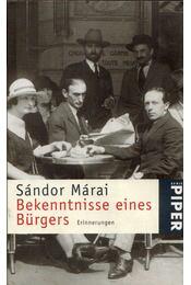 Bekenntnisse eines Bürgers - Márai Sándor - Régikönyvek