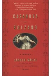Casanova in Bolzano - Márai Sándor - Régikönyvek