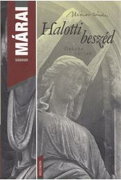 Halotti beszéd - Márai Sándor - Régikönyvek
