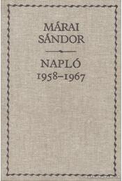 Napló 1958-1967 - Márai Sándor - Régikönyvek