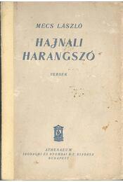 Hajnali harangszó - Mécs László - Régikönyvek