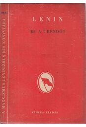 Mi a teendő? - Lenin - Régikönyvek
