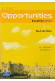 New Opportunities - Beginner + Mini-Dictionary - Michael Harris, David Mower - Régikönyvek