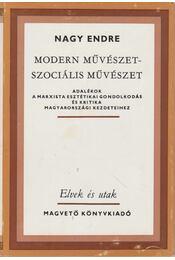 Modern művészet - szociális művészet - Nagy Endre - Régikönyvek