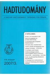 Hadtudomány XVII. évfolyam 2007/3. - Nagy László - Régikönyvek