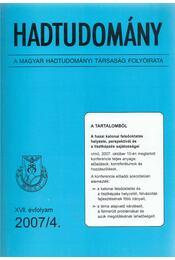 Hadtudomány XVII. évfolyam 2007/4. - Nagy László - Régikönyvek