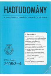 Hadtudomány XVIII. évfolyam 2008/3-4. - Nagy László - Régikönyvek