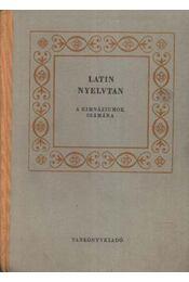 Latin nyelvtan - Németh János - Régikönyvek