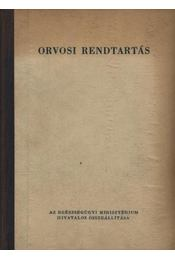 Orvosi rendtartás - Régikönyvek