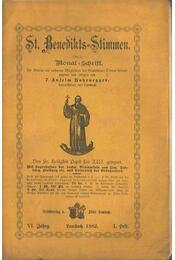 St. Benedikts-Stimmen VI. Jahrg. 1-10. Heft. - P. Anselm Hohenegger - Régikönyvek