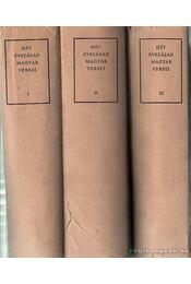 Hét évszázad magyar versei I-III. - Pándi Pál, Klaniczay Tibor, Szabolcsi Miklós, Király Kálmán - Régikönyvek