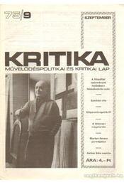 Kritika 75/9 - Pándi Pál - Régikönyvek