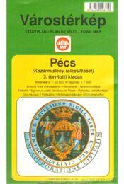 Pécs várostérkép (Kozármisleny településsel) (1:25000) - Régikönyvek
