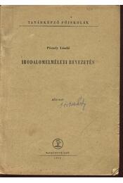 Irodalomelméleti bevezetés - Péczely László - Régikönyvek
