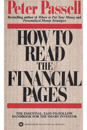 How to read the financial pages - Peter Passell - Régikönyvek