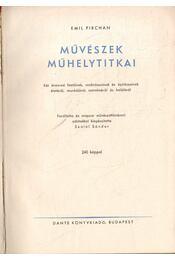 Művészek műhelytitkai - Pirchan, Emil - Régikönyvek