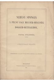 Nehány spongia a Pécsi vagy Mecsek-hegység dogger-rétegeiből - Pocta Fülöp - Régikönyvek