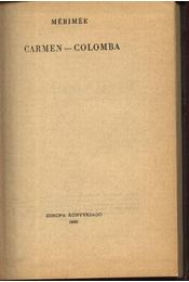 Carmen Colomba - Prosper Mérimée - Régikönyvek