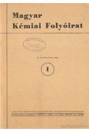 Magyar Kémiai Folyóirat 1984. 90. évfolyam (teljes) - Pungor Ernő - Régikönyvek